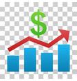 sales chart gradient icon vector image vector image