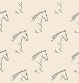 seamless pattern black horses beige background vector image