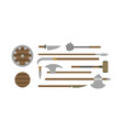 set of different medieval weapons flat vector image vector image