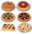 Set of pies vector image