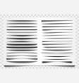 shadow realistic divider line shadow separator vector image