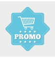 Shopping promo colorful label tag vector image vector image