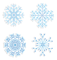 snowflakes for winter and christmas theme vector image