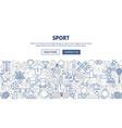 sport banner design vector image vector image