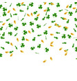 st patrick s day background green leaves clover vector image
