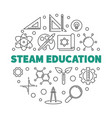 steam education outline round concept vector image