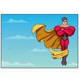 superhero flying in sky horizontal vector image