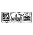 the state banner of michigan the wolverine state vector image vector image
