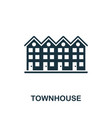 townhouse icon symbol creative sign from vector image vector image