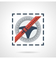 Traffic Laws abstract flat color icon vector image