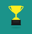 trophy cup flat icon championship trophy cup vector image vector image