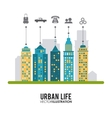 Urban life design vector image