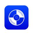 vinyl record icon digital blue vector image vector image
