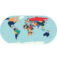 world political detailed map vector image vector image