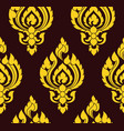 yellow and brown damask pattern royal oriantal vector image vector image