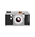 retro photo camera on a white vector image
