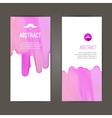 banners template set Hand drawn Watercolor vector image