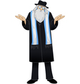 Rabbi With Talit Is Unsure vector image