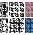 Set of seamless floral patterns vintage vector image