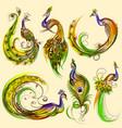 tattoo art design of collectio vector image