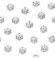 3d dice combinations seamless pattern background vector image vector image
