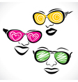 abstract fashionable goggle wear girl stock vector image vector image