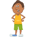 african american boy cartoon vector image vector image