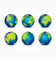 all side of planet around the world vector image vector image
