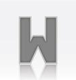 Alphabet W vector image vector image