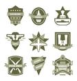 Army Khaki Emblems vector image vector image