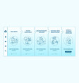at-home spa routine onboarding template vector image vector image