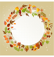 Autumn greeting card with place for text