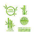 bamboo decoration collection isolated design vector image vector image