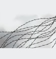 barbed wire fencing fence made of wire with vector image vector image