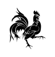 Black silhouette of an cock vector image