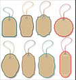 blank hanging gift tags collection vector image vector image