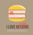 books in hamburger icon in flat style vector image