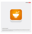 bowl and chopsticks icon vector image vector image