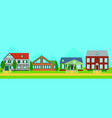 bright suburban summer houses template vector image