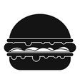 burger icon simple vector image