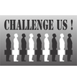 Business challenge vector image