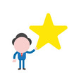 businessman character holding star vector image vector image