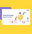 businessman lightbulb idea concept landing page vector image vector image
