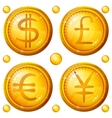 Buttons with currency signs set vector image