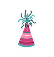carnival hat isolated vector image
