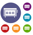cd changer icons set vector image vector image