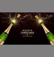 champagne explosions with golden spatters and vector image