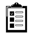 checklist icon simple black style vector image vector image