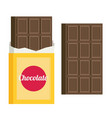 chocolate flat style vector image vector image