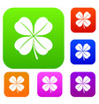 clover leaf set collection vector image vector image
